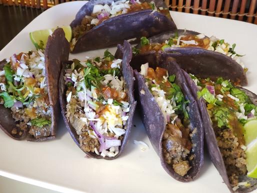 Ground Turkey Blue Tacos
