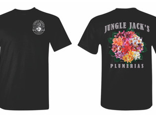 NEW! Jungle Jack's Plumeria Shirts