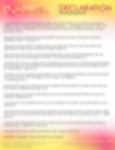 Camille McKenzie - Declaration on Ending
