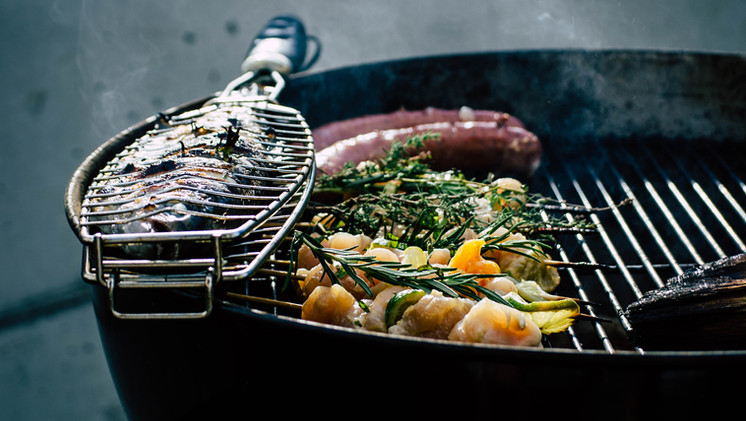 Barbecue at Mas Saint-Gens, holiday place in Luberon, Provence