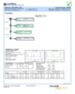 relatorio certificação fibra otica fluke versiv