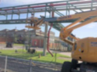 lancamento de cabo otico area industrial