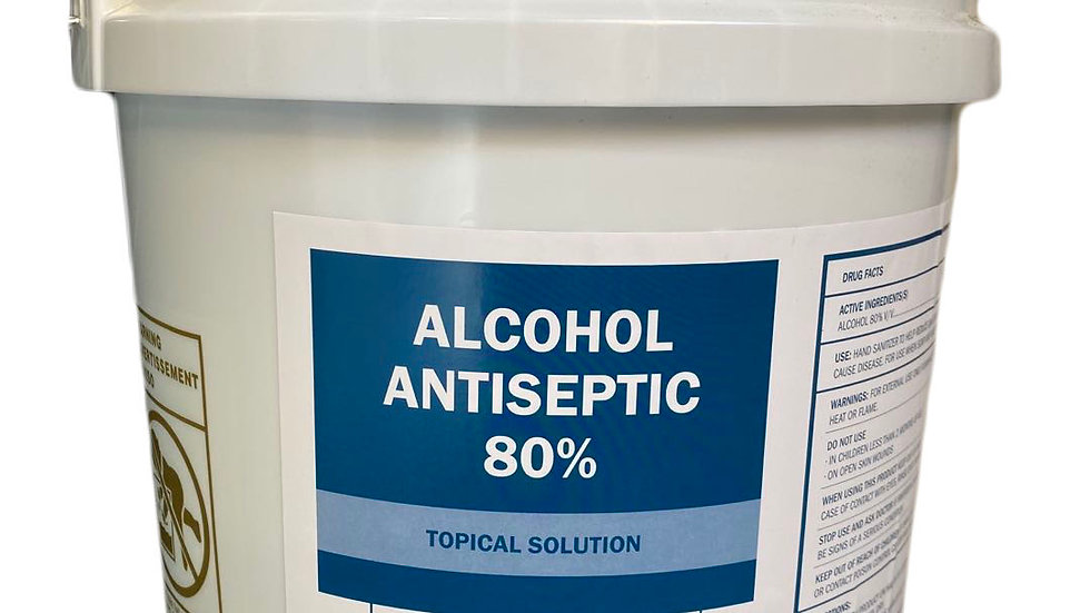 Alcohol Antiseptic 80% Topical Solution 5 Gallons