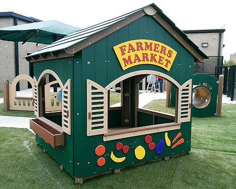6' x 6' Farmer's Market Playhouse w/ Shutters