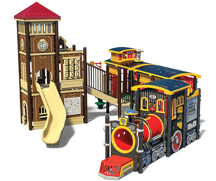 Locomotive Theme Play Structure