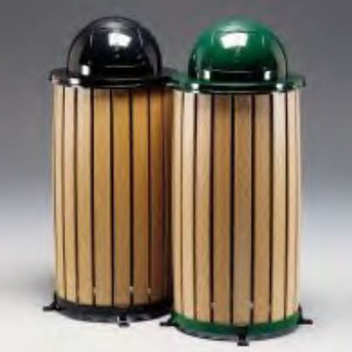 Trash Receptacle w/ Dome Lid