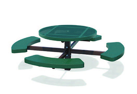 Round Pedestal Picnic Table