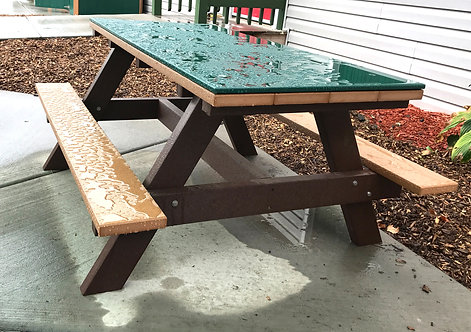 4' Picnic Table w/ HDPE Top (Preschool height)