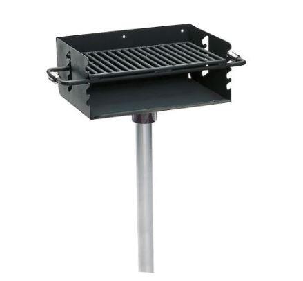 Rotating Flip Back Pedestal Grill