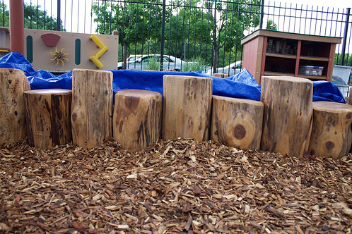 4' Section of Vertical Log Edging