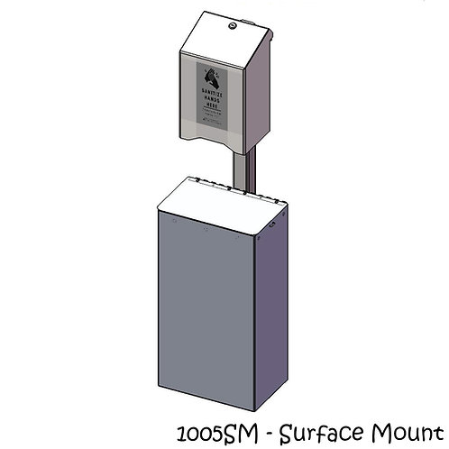 Post Mounted Large Sanitizer Holder & Receptacle