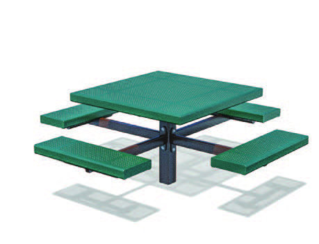 Square Pedestal Picnic Table