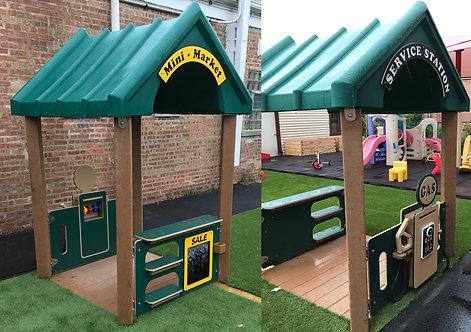 4' x 4' Service Station & Mini Market Playhouse
