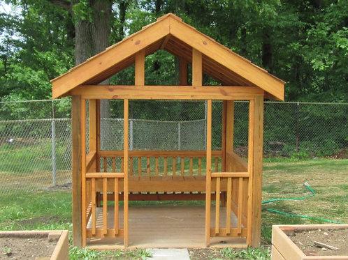 Wood Garden House w/ Floor