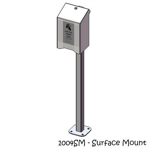 Post Mounted Large Sanitizer Holder