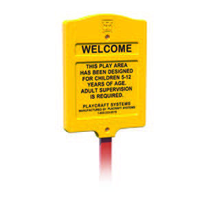 Age Appropriate Sign, 5-12 Roto-molded