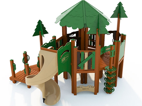 School-Age Tree House Play Structure