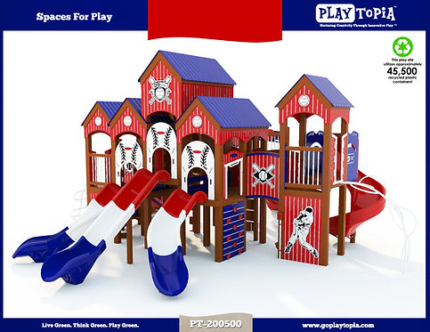 School-Age Baseball Theme Play Structure