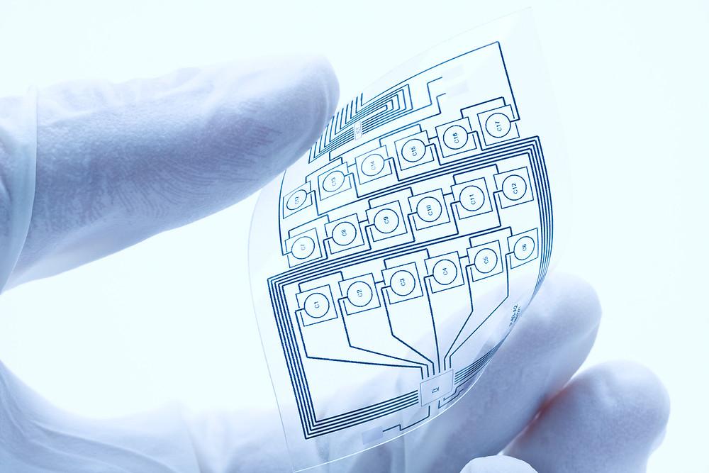 Flexible electronic web or film