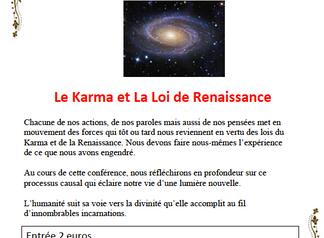 Le Karma et la Loi de Renaissance