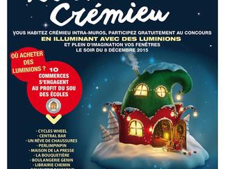 Illumination et Marché de Noël a Crémieu.