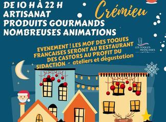 Marché de Noël à Cremieu.