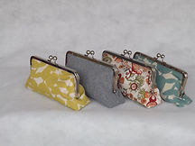 Purses commissioned at The Sewing Parlour in Northich - 3 different syles - yellow, grey and two floral