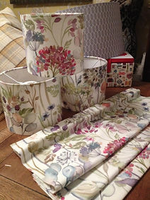 Lampshade making in Northwich The Sewing Parlour - using floral fabric
