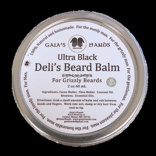Deli's Beard Balm -Ultra Black 2oz