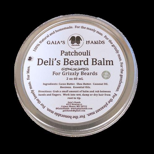 Deli's Beard Balm - Patchouli 4oz