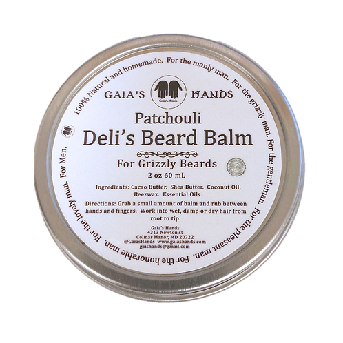 Deli's Beard Balm- Patchouli 2oz