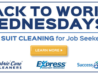 Fabric Care Cleaners Introduces 'Back to Work Wednesdays'