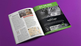 World's Best Cat Litter magazine ad-brand relaunch