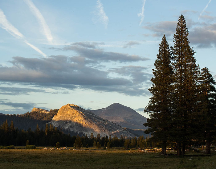 Sunset on Lembert Dome from Tuolumne Meadows