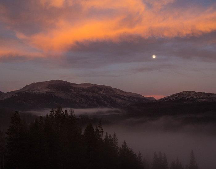 Moonrise Over the Sierra