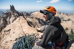 Climber on the Summit