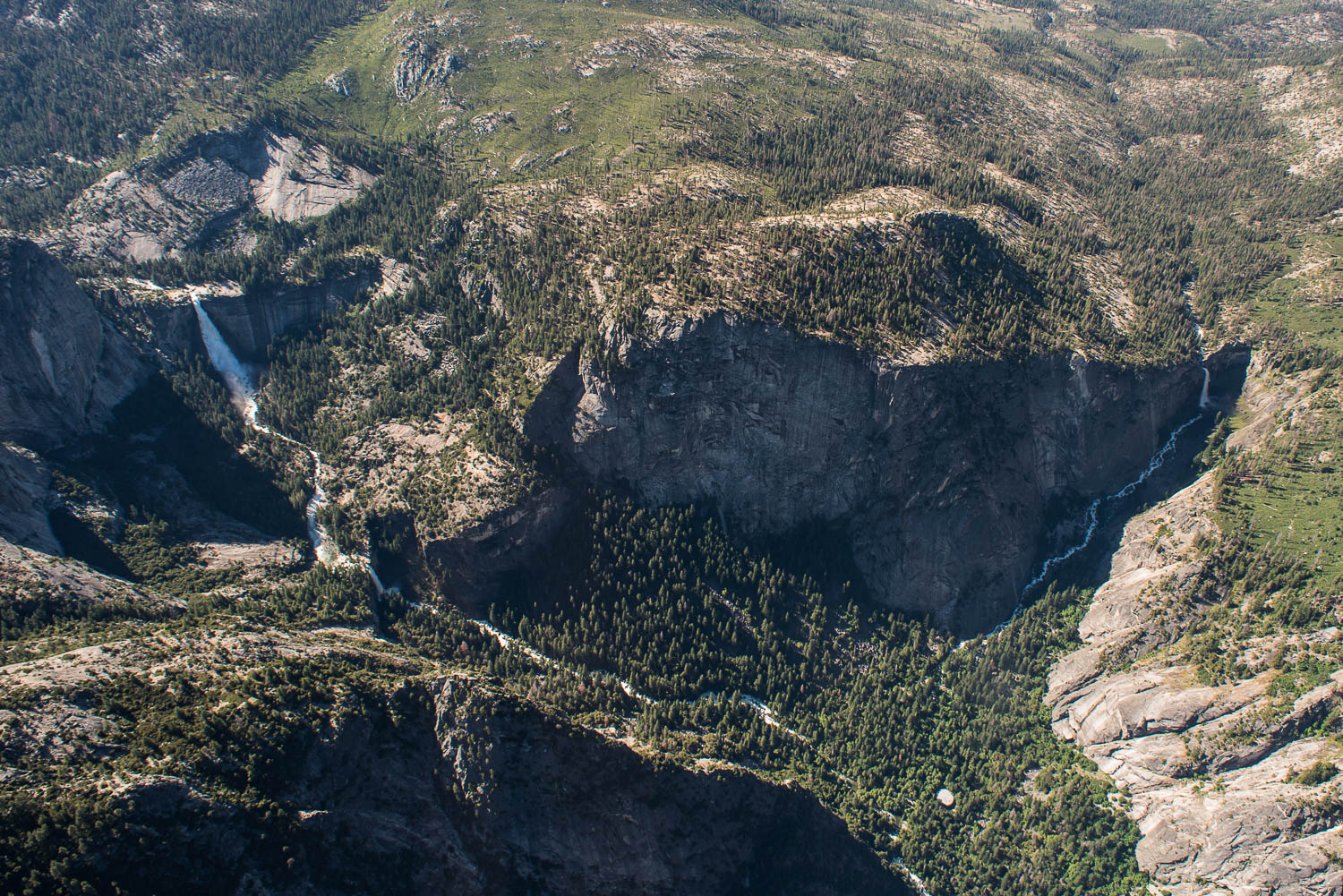 Aerial view of the Mist Trail