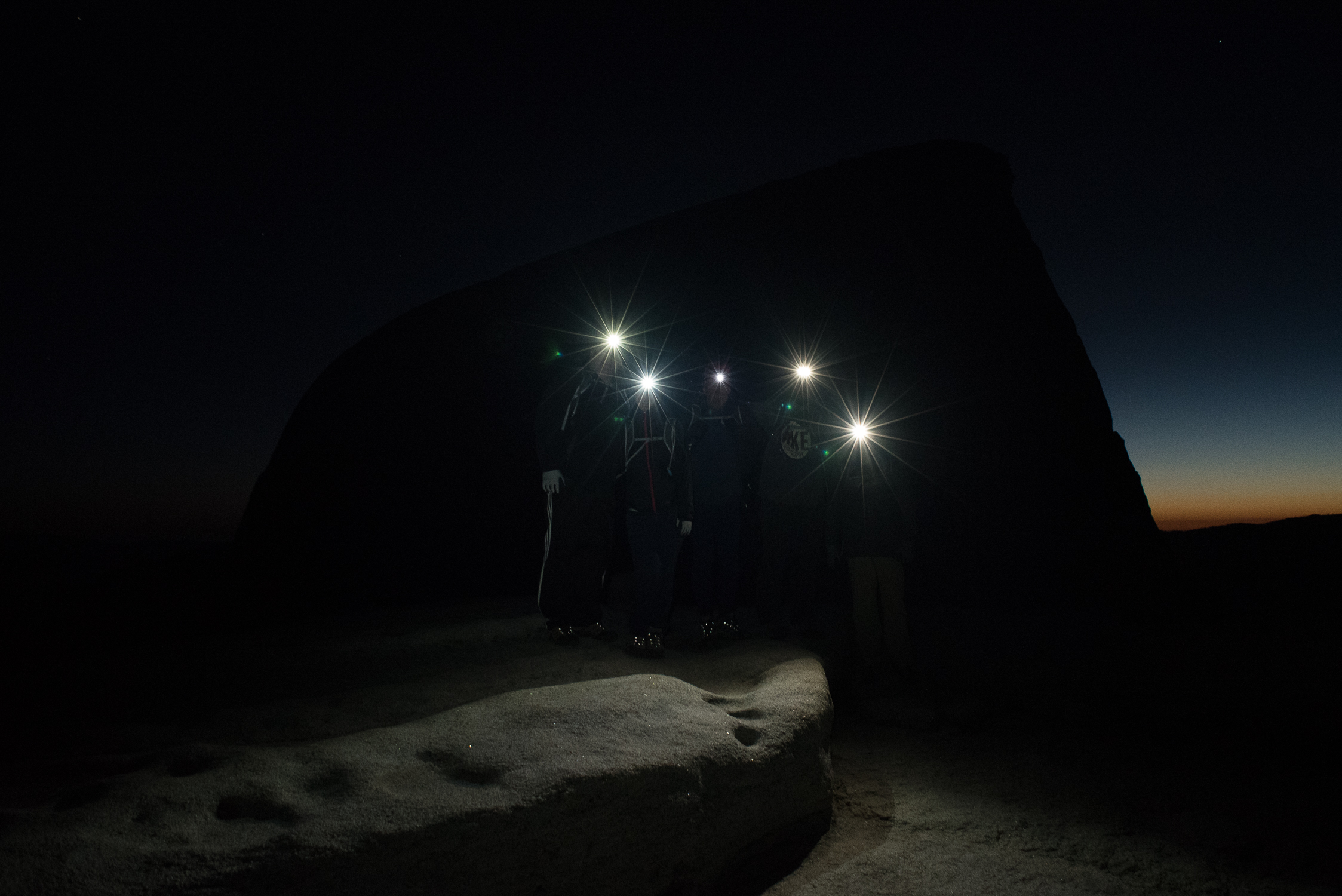 Hikers on Top of the Sub Dome