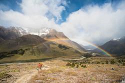Backpacker in Patagonia