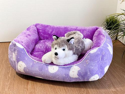 หมาเจ็บ เบาะโซฟาผ้าขนนุ่ม #3 (ลายหน้าแมวม่วง) น้ำหนักไม่เกิน 8 กก.
