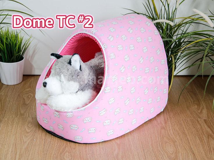 บ้านทรงโดม Dome #2 ลายหน้าแมวชมพู