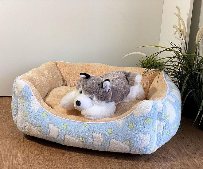 หมาเจ็บ เบาะโซฟาผ้าขนนุ่ม #3 (ลายเมฆดาว ฟ้า) น้ำหนักไม่เกิน 8 กก.