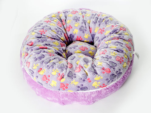 Cozy Bed ขนเป็ดเทียม ลายเท้าหมาม่วง