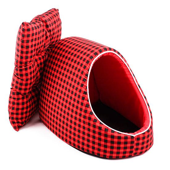 Dome ลายตารางแดง-ดำ