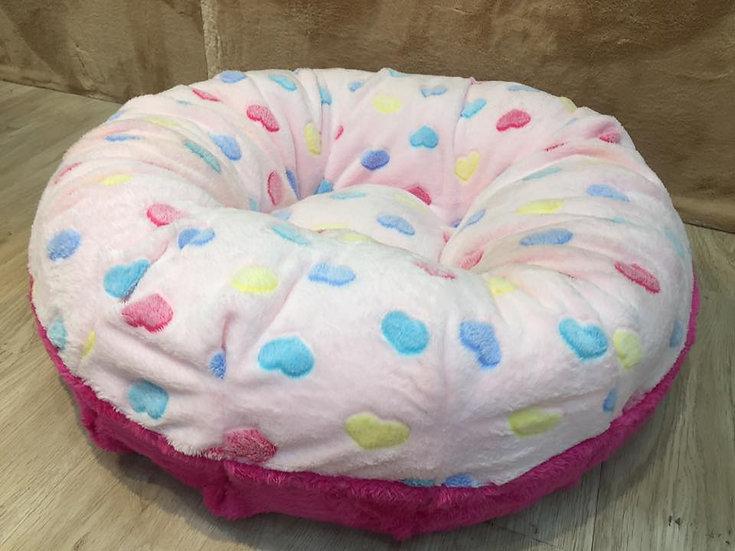 Cozy Bed ขนเป็ดเทียม ลายหัวใจชมพู