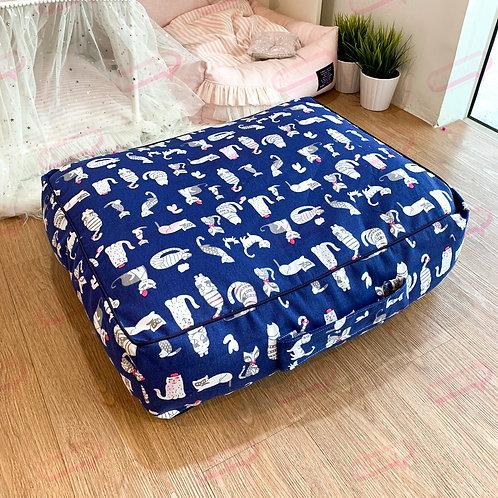 Suitcase ผ้าแคนวาสน้ำเงิน