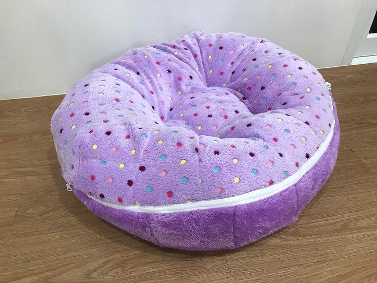Cozy Bed ขนเป็ดเทียม ลายจุดผสมม่วง