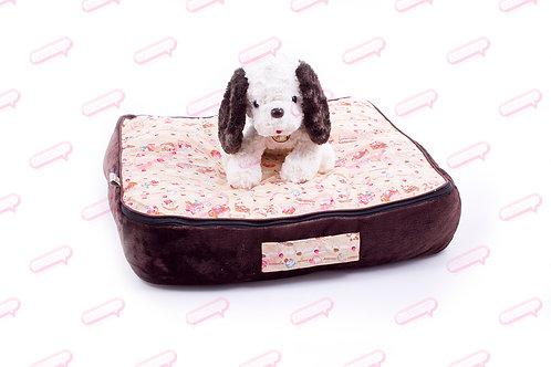 Suitcase Brown ดอกไม้หัวใจ