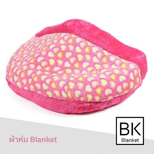 Blanket ผ้าขนลายหัวใจชมพู