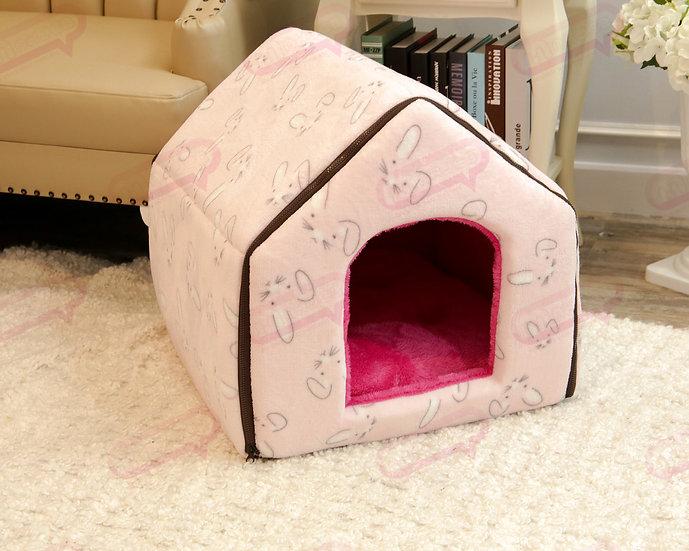 House Zip ผ้าขนกระต่ายชมพู